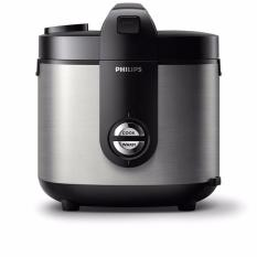 PHILIPS Rice Cooker HD 3128 Penanak Nasi Stainless 2 Liter HD3128