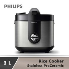 PHILIPS Rice Cooker Stainless HD3128 - Silver