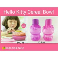Tupperware Paket Hello Kitty Bottle Dan Cereal Bowl - Pink