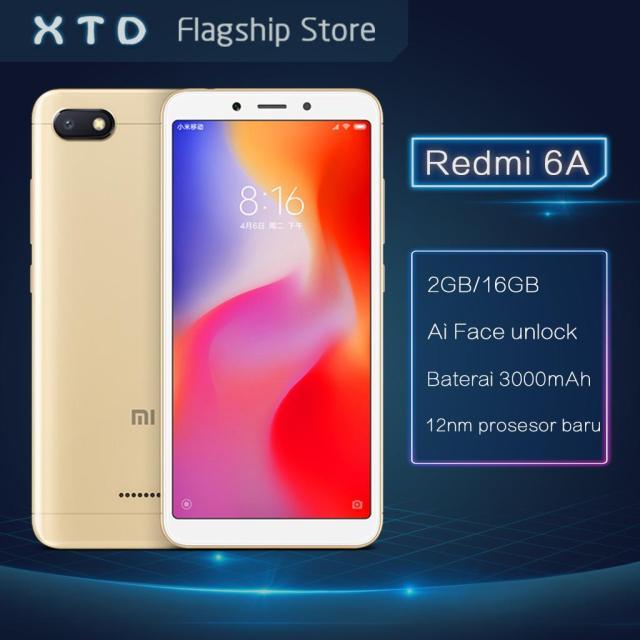 Xiaomi Redmi 6A - 2GB/16GB China Version Smartphone Face Unlock