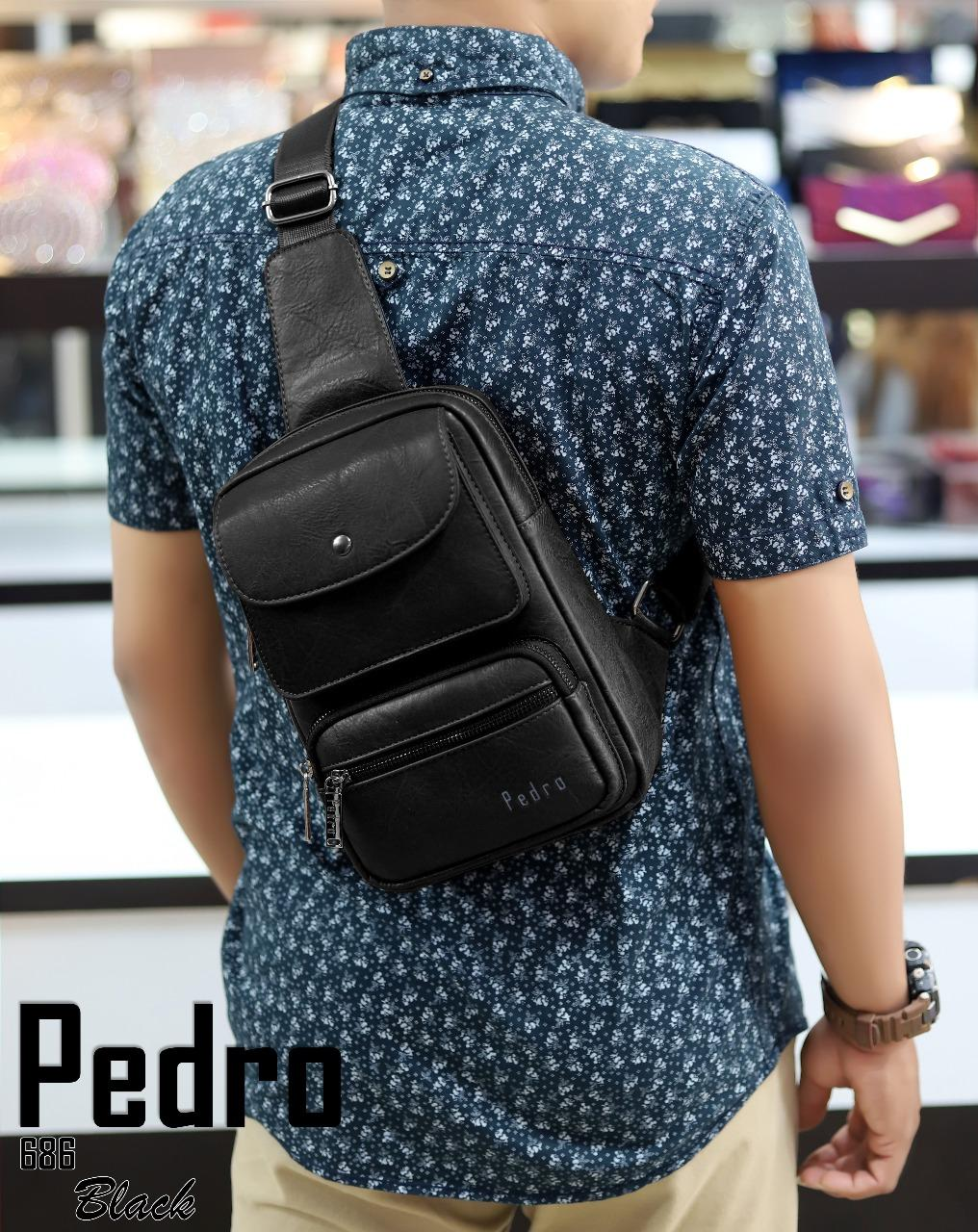 New Arrival   Waist Bag PEDRO 686 Leather Quality Semipremium