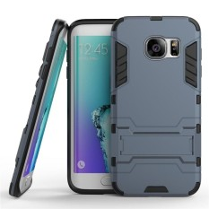2 in 1 Dual Layer Protection Hybrid Rugged Shockproof Case Full Body Protector Cover Hard Shell Cover with Kickstand for Samsung Galaxy S6 Edge Plus - intl