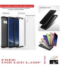 3 IN 1 CASE  DELUXE  iPAKY 360 DEGRESS FULL BODY PROTECTION PHONE CASE WITH TEMPERED GLASS  FOR SAMSUNG S8  PLUS  - RANDOM COLOR FREE USB LED