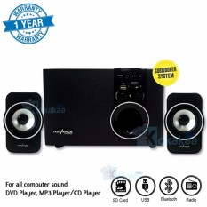 Advance Digital Speaker Xtra Power Sound 180BTX Subwoofer System + Bluetooth - Hitam