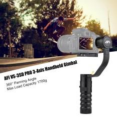 AFI VS-3SD 3-sumbu Handheld Gimbal Brushless Gyro Stabilizer Kamera 360� Sudut Panning untuk Canon 5D 6D 7D untuk sony A7 A7II A7R A7R2 A7S A7SII untuk Panasonic GH4 dan DSLR Lainnya & Mirrorless Kamera Max Kapasitas Beban 1700 G-Intl