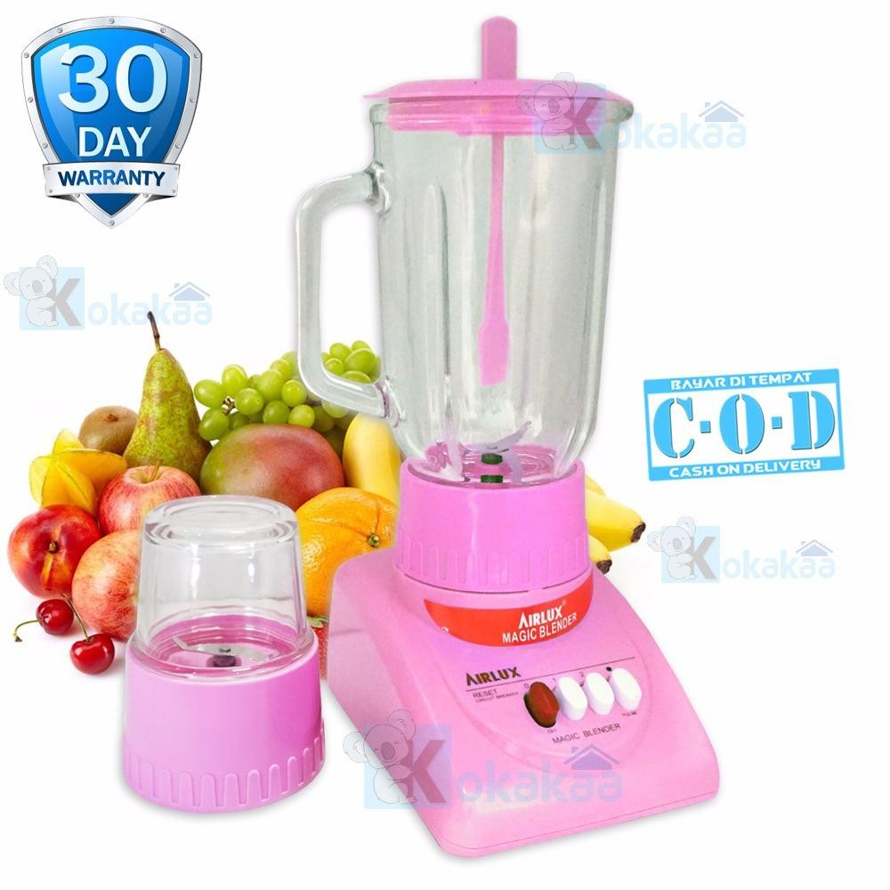 Airlux Electric Blender Glass Jar BT-X Low Watt with Grinder 1000 ML - Pink