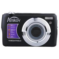 "AMKOV HD Digital Camera Video Camcorder 15MP 2.7"" TFT LCDAnti-shake Screen 4X Optical Zoom (Black) - intl"
