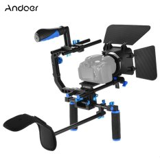 Andoer D102 Aluminum Alloy Camera Camcorder Video Cage Kit Film Making System with Cage Shoulder Pad 15mm Rod Matte Box Follow Focus Handle Grip for Canon Nikon DSLR - intl