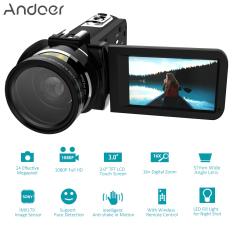 Andoer HDV-Z20 Portable 1080P Full HD Digital Video Camera with 37mm 0.45? Wide Angle Lens Max 24 Mega Pixels 16? Digital Zoom Camcorder 3.0
