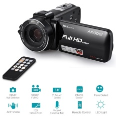 Andoer HDV-Z82 1080P Full HD 24MP Digital Video Camera Camcorder 10X Optical Zoom with 3