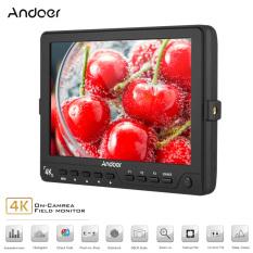 Andoer S7 Profesional 7 Inch On-Camera Monitor IPS Full HD 1920*1200 Resolusi Tinggi Video Monitor Dukungan 4 K HDMI Sinyal untuk Sony Canon Nikon BMCC BMPC BMPCC 5D Mark III-Intl