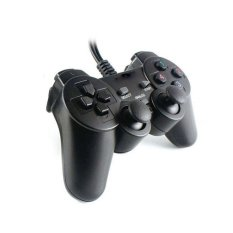Askhev Gamepad Single Dual Shock USB - Hitam