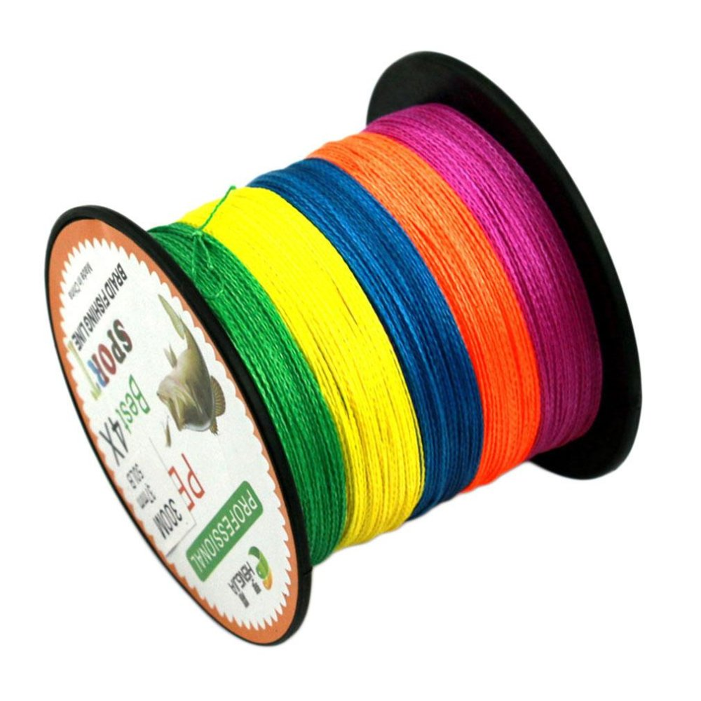 BAGUS Warna-warna-warni 4 Series 300 M Super Kuat Multifilamen PE Braided Fishing Line Multi Warna-Intl