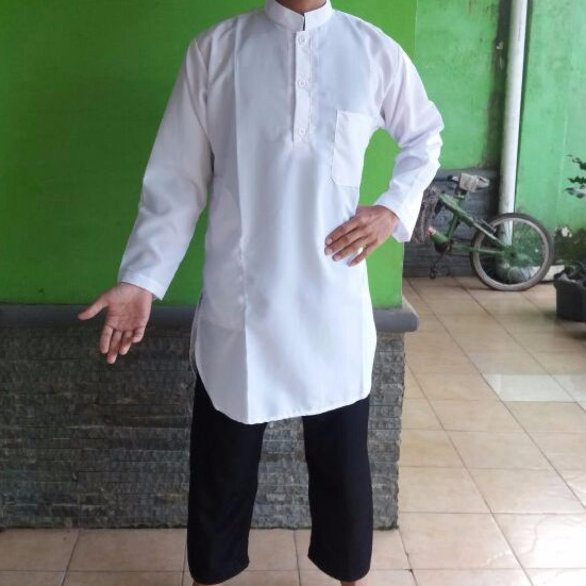 baju gamis putih polos, gamis pria, gamis pakistan
