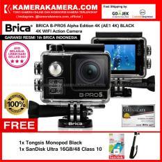 BRICA B-PRO5 Alpha Edition 4K (AE1 4K) BLACK 4K Ultra HD 12MP Action Camera - Garansi Resmi Brica Indonesia Free SanDisk Ultra 16gb + Tongsis Monopod