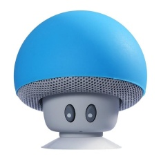Kartun Kecil Kepala Jamur Bluetooth Speaker Pengisap Kecil Creative Mobile Platform Portable Outdoor Bluetooth Speaker-Biru-Intl