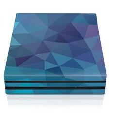 Pengendali Perlengkapan PS4 Pro Console Kulit-Dalam Biru Poly Horizontal-PlayStation 4-Internasional