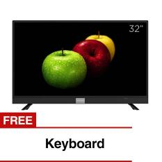 Coocaa 32 inch HD Smart Digital LED TV - Hitam (Model 32S3A12G) with Free Keyboard
