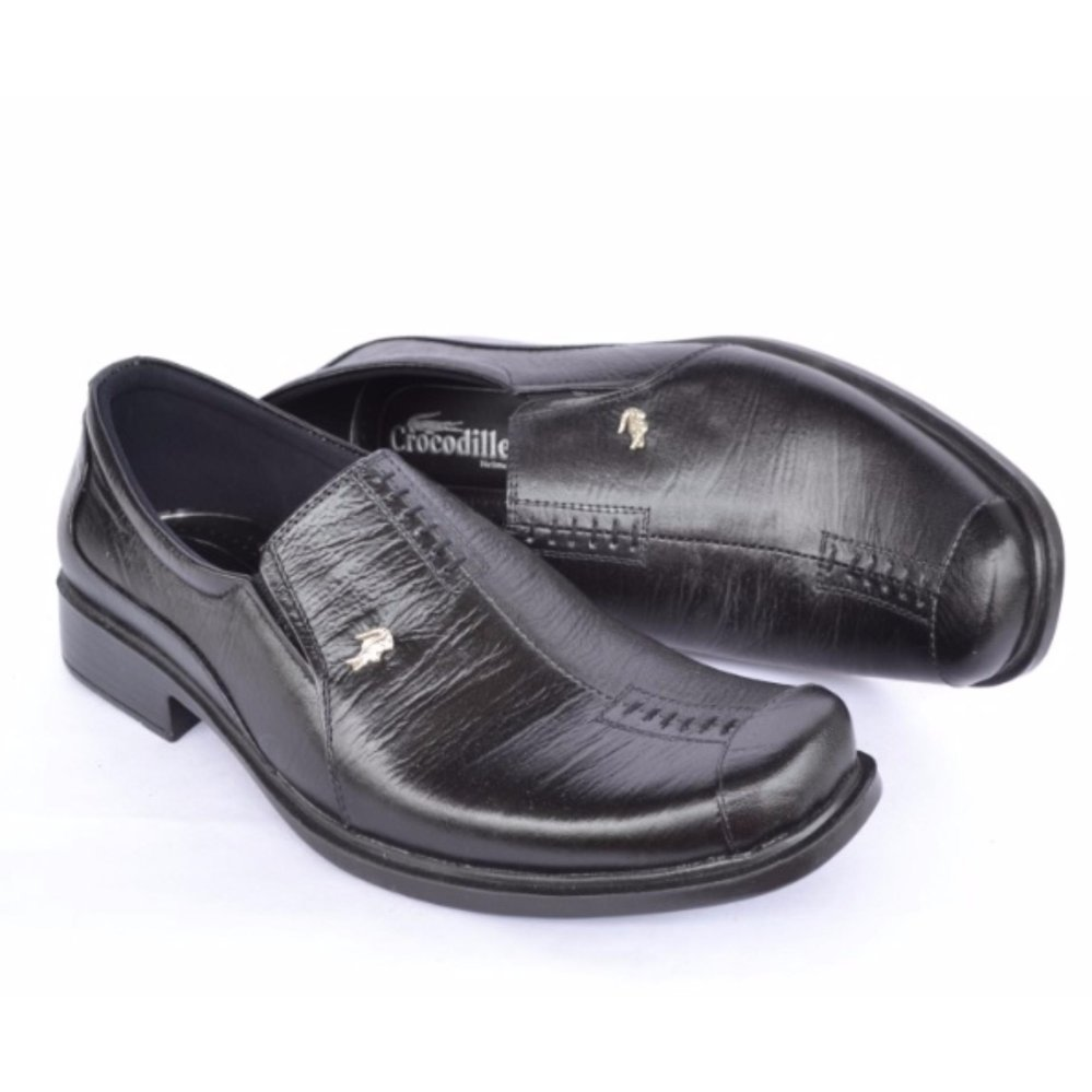 Crocodile Sepatu Formal Sepatu Kerja - Sepatu Pantofel Pria - Kulit Asli  Pria - A8 Hitam 6e7db074eb