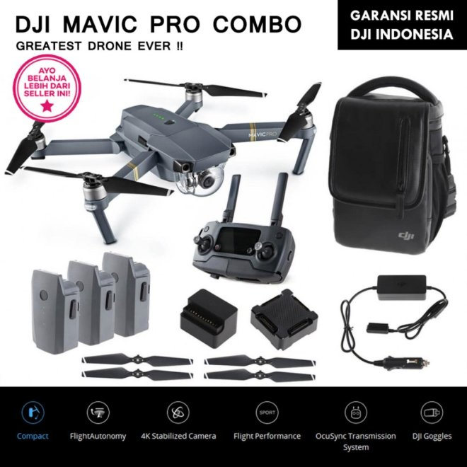 DJI MAVIC PRO COMBO (4K ULTRA HD VIDEO)