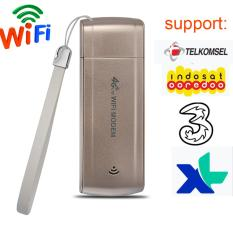 FLORA 4G FDD LTE 100Mbps WiFi Router Hotspot USB Broadband Mobile Modem for Indosat, 3,XL   ,Telkomsel - intl