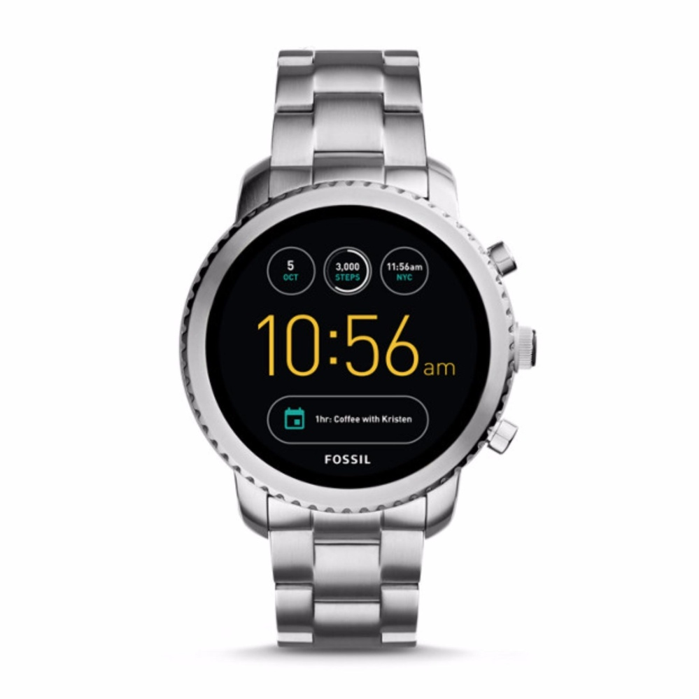 Fossil Q Explorist Silver Stainless Steel - Smart Watch - Silver