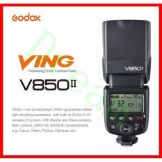 GODOX V850II GN60 2.4G Nirkabel X Sistem Speedlite dengan Baterai Li-ion Blitz Ringan untuk Canon Nik0n Pulpen- pajak 0 Lympus DSLR Kamera Bebas Baterai & Pengisi Daya (Jaminan Internasional)