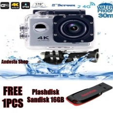 gopro hero 4 style Action camera F60 Ultra HD 4K WiFi Underwater 30M Sports Camera 2.0″ LCD 1080p 60fps Camera Car Recorder Free Plashdisk Sandisk 16 GB