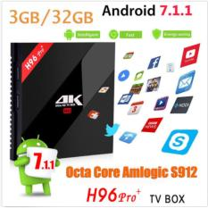 H96 PRO PLUS 3 GB + 32 GB Amlogic S912 H96 PRO + Octa Inti Android 7,1 2.4G/ 5G Hz WiFi 4 K Bt 4.1 Kdoi 17.1 Smart Android Kotak TV-Intl