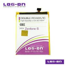 LOG-ON Battery Untuk Asus Zenfone 6 / A600CG  - Double Power & IC - Garansi 6 bulan