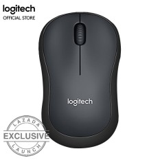 Logitech M220 Silent Wireless Mouse - Abu-abu