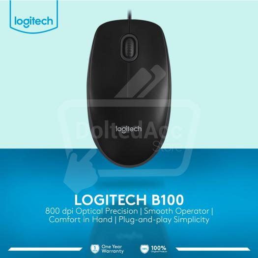 Logitech Mouse Optical B100