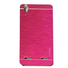 Motomo Hardcase For Lenovo A6010 / A6010 Plus / A6010+ / A6010 + / A6000  Rubber Polycarbonat + Metal Hardcase Hard Back Case / Hard Back Cover / Metal Allumunium Case / Casing HP / Casing Handphone - Pink