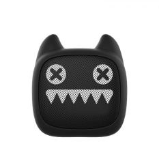 MR LEAF DEVIL CAT Z1 Mini Cartoon Portable Bluetooth Bass Cannon Wireless Audio Speaker - Hitam
