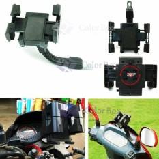 Mr Phone Holder Spion Sepeda Motor / Motorcycle Phone Holder - Black