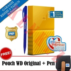 WD My Passport New Design 4TB/2.5Inch/USB3.0 - Kuning + Free Pouch + Pen