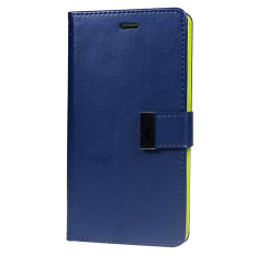 Baru Sandal PU Kulit Dompet For Case Telepon Penutup Apple IPhone 5/5 S (biru Indah)