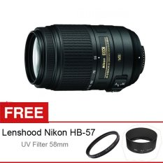 Nikon AF-S DX 55-300mm f/4.5-5.6 VR - Free Lenshood Nikon HB-57 + UV Filter 58mm