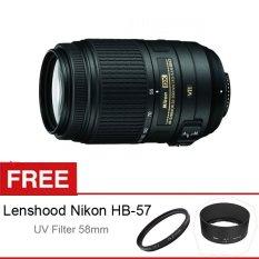 Nikon AF-S DX 55-300mm f/4.5-5.6 VR - Free Lenshood Nikon HB-57 + UV Filter 58mm