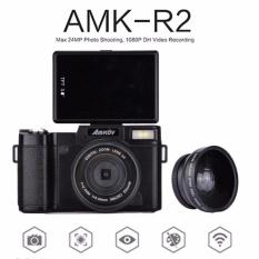Asli AMKOV CDR2 Digital Kamera Video Camcorder 800 W Pixel 3 Inch TFT Layar dengan UV Filter 0.45X Super Wide Angle Lens-Intl