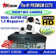 PAKET TERMURAH CCTV SUPER-HD 2 CAMERA MIX ( 4in1 Cam) REAL AHD SYSTEM 1.3 MP ( Bukan ANALOG TVL )