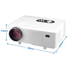 Profesional Proyektor Cheelux CL720 Projector HD Mantap TV Tuner LCD Projektor LED 3000 lumens