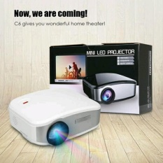 Projector Cheerlux C6 Portable Projektor Cherlux Terbaru 800x480 Lumens 1200 Proyektor With TV Tuner HDMI USB VGA Original