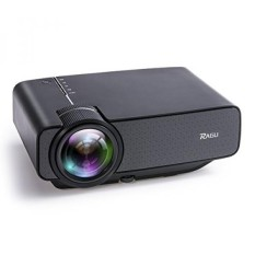 Ragu Z400 1600 Lumens Mini Proyektor Portabel, hiburan Rumah Video Projector Film Theater Proyektor Multimedia LED Dukungan HD 1080 P untuk Laptop Buah PS4 Xbox Smartphone Android iPhone Televisi Kotak, hitam-Internasional