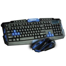 Rexus Keyboard + Mouse Wireless VR2 Multimedia Gaming 6D Warfaction - Hitam