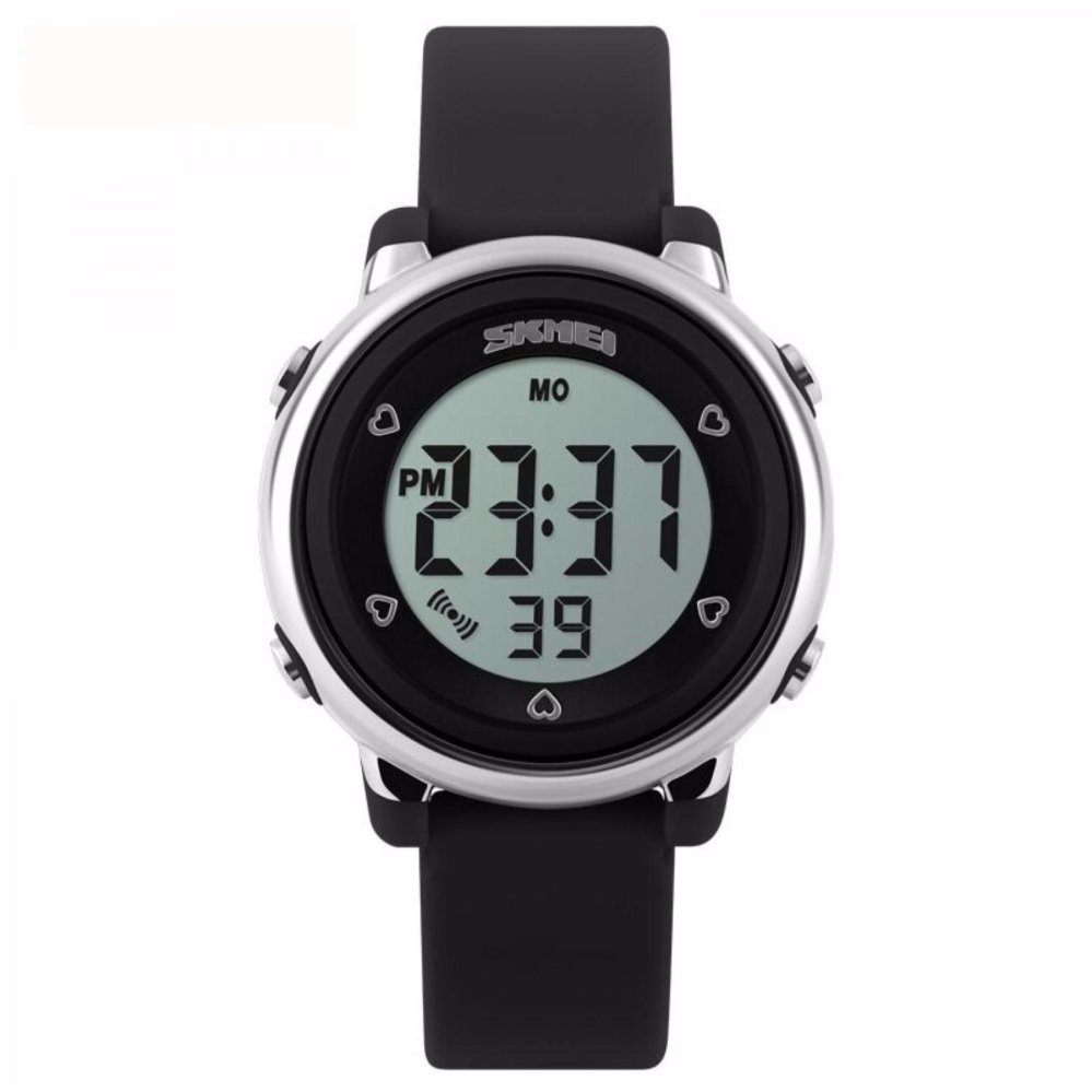 SKMEI Children Sport Rubber LED Watch Water Resistant 30m / Jam Tangan Anak DG1100 - Hitam