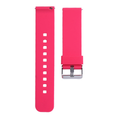 Soft Silicone Replacement Sport Watch Wrist Band Strap untuk Cookoo2 Watch (Rose Red)-Intl
