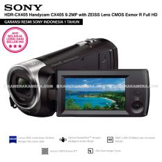 SONY HDR-CX405 Handycam CX405 9.2MP with ZEISS Lens CMOS Exmor R Full HD (Resmi Sony)