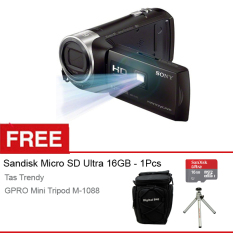 Sony HDR-PJ410 AVCHD Projector Handycam - Full HD - Gratis Sandisk Ultra Micro 16GB + Case + Mini Tripod