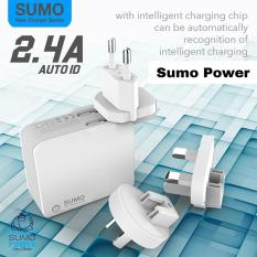 Sumo SC208 Travel Charger 2in1 Dual USB 2.4A Support Fast Charging Auto ID Original